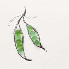 Peas in a pod. #seaglass #beachglass #peasinapod