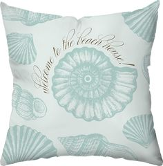 Welcome to the Beach House! Outdoor Throw Pillow