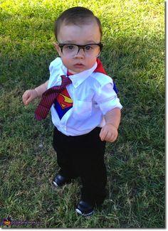 1f703f7b2 Disfraz Clark Kent. Disfraz casero y original!! Trajes De Halloween Del Bebé ,