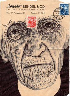 Mark Powell Biro Pen Drawings on Antique Envelopes 15 Biro Art, Ballpoint Pen Drawing, Amazing Drawings, Art Drawings, Drawing Faces, Gcse Art Sketchbook, Sketchbook Ideas, Sketchbooks, Mark Powell