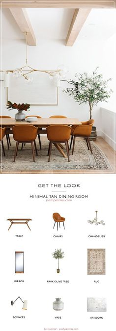 Get The Look: Minimal Tan Dining Room Do you love the look of this minimal and classy tan dining room designed by Studio McGee? I've tried to recreate this dining room on a smaller budget! Come see how you can achieve this look at a fraction of the cost! Tan Dining Rooms, Dining Room Design, Dining Room Furniture, Living Room Decor, Modern Dining Room Lighting, Decor Room, Contemporary Neutral Dining Room, Modern Dining Rooms, Small Living Dining