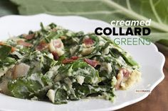 be healthy-page: Creamed Collard Greens