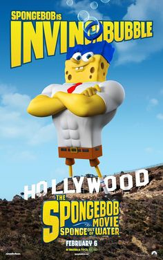 SpongeBob is Invincibubble in The SpongeBob Movie: Sponge Out of Water