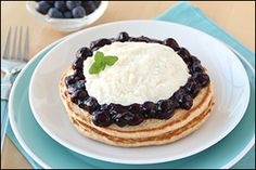 Blueberry + Cannoli + #Pancakes = CLICK for the HG #recipe!