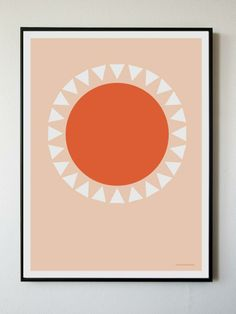 Orange Sun Print from BRIKA.  Simple and sweet.