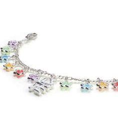 Flower Power Charm Bracelet