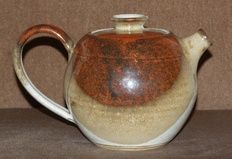 Beautiful Small Pottery Teapot hand thrown and crafted by Susan Boland in County Kilkenny.