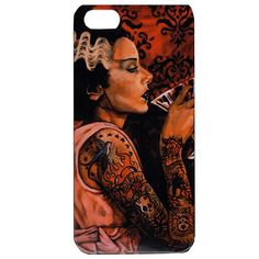 If you love monsters, this Lowbrow Art Bride Cocktail by Mike Bell Bride of Frankenstein iphone 5 case is for you! Funny Phone Cases, Iphone 5 Cases, Belle Tattoo, Tattoo Bride, Mike Bell, Brides With Tattoos, Love Monster, Inked Shop, Bride Of Frankenstein