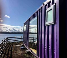 Cabaña Container N Borde Lago Parking, Chile, Windows, Mountains, Nature, Travel, Lakes, Apartments, Naturaleza