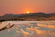 Sunset in #Pamukkale #Turkey
