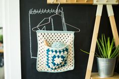 We're going to show you how to make a knitters tool organizer in crochet. They say that organization stimulates creativity and happiness. Free Pattern.