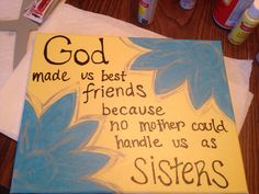 Best friend DIY canvas