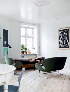 Licht und Blau. Eine Wohnung in Kopenhagen.