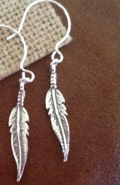 FeaTHeR BoHo EaRRinGs STeRLiNG SiLVeR/ women's/ Teen earrings/ gift/ Dangle earrings/ Silver Feathers by Ivanwerks on Etsy