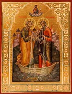 Jesus and The Miraculous Catch of Fish icon