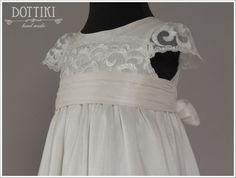 Baby Girl Christening Dress Christening Silk Gown by DOTTIKI