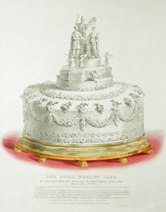 Queen Victoria's wedding cake, along with lots of juicy details about her dress and the ceremony.
