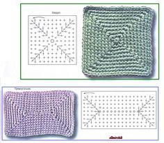 Transcendent Crochet a Solid Granny Square Ideas. Inconceivable Crochet a Solid Granny Square Ideas. Crochet Square Patterns, Crochet Basket Pattern, Crochet Diagram, Crochet Motif, Crochet Stitches, Crochet Granny, Diy Crochet, Crochet Rugs, Crochet Ideas