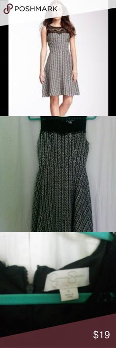 "Jessica Simpson Tweed Dress size 6 Tweed sleveless dress with lace inset. Wsist to hem 20"" Jessica Simpson Dresses"