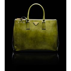 outle prada top handle brushed calf leather tote smoky military green outlet store online £140.00
