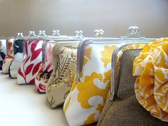 @Ashley Abuthan totally should get your BMs to bring one of these :P. Bridesmaids Clutches Custom Purses Bags by loliscreations on Etsy, $52.00