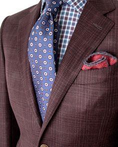 Designer Suits For Men, Paisley Dress, Cobbler, Stylish Men, Mens Suits, Men's Style, Ideas Para, Color Combinations, Knots
