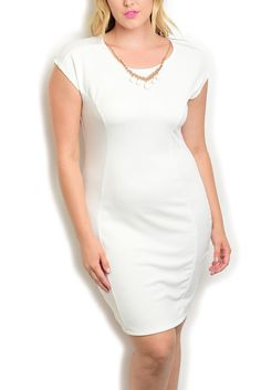 DHStyles Women's Ivory Plus Size Sexy Classy Fitted Princess Cut Date Dress with Necklace - 1X Plus #sexytops #clubclothes #sexydresses #fashionablesexydress #sexyshirts #sexyclothes #cocktaildresses #clubwear #cheapsexydresses #clubdresses #cheaptops #partytops #partydress #haltertops #cocktaildresses #partydresses #minidress #nightclubclothes #hotfashion #juniorsclothing #cocktaildress #glamclothing #sexytop #womensclothes #clubbingclothes #juniorsclothes #juniorclothes #trendyclothing…