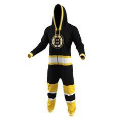 Boston Bruins Hockey Jersey Pajamas – Black