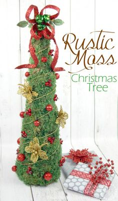 Pretty Rustic Moss Christmas Tree