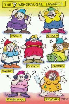 7 menopausal dwarfs