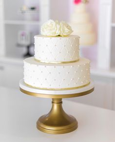 Wedding & Special Event Cakes, Desserts & More! Wedding Cake Two Tier, Pretty Wedding Cakes, Small Wedding Cakes, Square Wedding Cakes, Wedding Cakes With Flowers, Elegant Wedding Cakes, Wedding Cake Decorations, Wedding Cake Designs, Bolo Barbie Paris