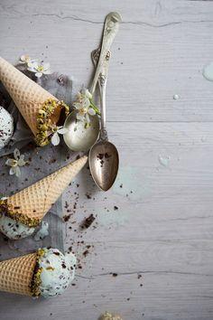 Glace à la menthe & pépites de chocolat / blog borrowed light (en anglais)