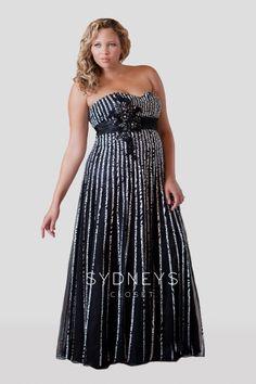 Plus Size Chic Satin Ribbon Plus Size Formal Dress
