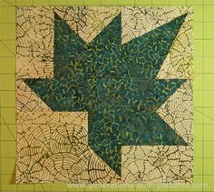 Autumn Leaf Quilt Block: A Maple Leaf variation, 3 sizes Quilting Tutorials, Quilting Projects, Quilting Designs, Patch Quilt, Quilt Blocks, Paper Piercing Patterns, Patchwork Quilt Patterns, Quilted Ornaments, Pattern Library