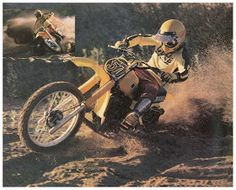 1980 Yamaha YZ 465. A beast of a machine, this model from Yamaha only lived for two years, but it was built with a big-bore engine and monoshocks when most racers were still riding with twin rear shocks.