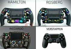 Couldn't help but chuckle at this Car Jokes, Car Humor, Formula 1 Car Racing, Ricciardo F1, Daniel Ricciardo, Nico Rosberg, Martini Racing, Thing 1, Michael Schumacher