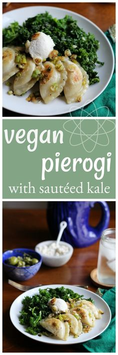 Vegan pierogi with s