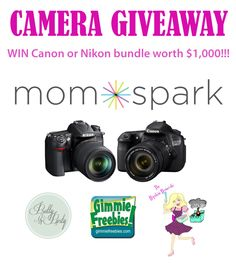 win a camera bundle at Mom Spark