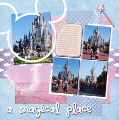 Disney page- love the colors. Would be perfect for meeting the princesses.