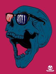 Rock&Roll Skull on Behance