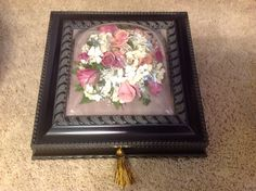 Wedding bouquet preserved into a jewelry box! Flower Preservation, How To Preserve Flowers, Preserves, Wedding Bouquets, Jewelry Box, Home Decor, Jewellery Box, Dry Flowers, Jewelry Storage