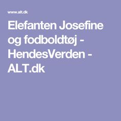 Elefanten Josefine og fodboldtøj - HendesVerden - ALT.dk