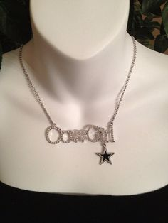 Dallas Cowboys necklace by Beckyschunkystuff on Etsy, $25.00