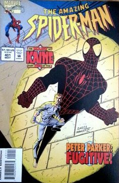 Spiderman made a fugitive by Kaine! Published by Bags & Mahlstedt, direct edition: 1995