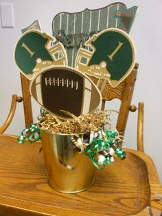 Football Party Centerpieces- Birthday or Game Day Parties- Choose Your Team Colors. $42.50, via Etsy.