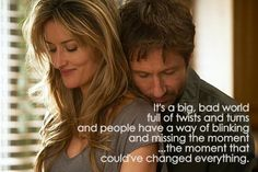 Hank & Karen quote I so love Californication....... Hank and Karen have the perfect chemistry but never get it right.... ACS