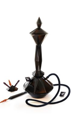 Narghile Etoile Airdiem  en obsidienne noire