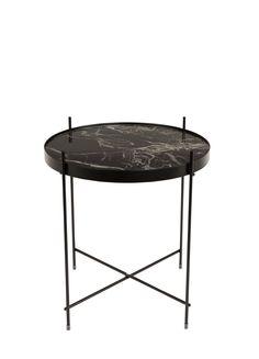 Cupid Marble side table Black