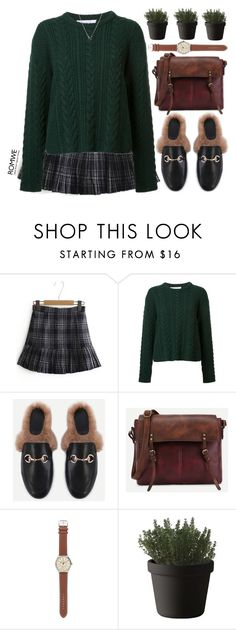 """""""plaid"""" by mihreta-m ❤ liked on Polyvore featuring Ryan Roche, J.Crew and Muuto"""