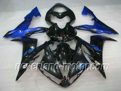 YAMAHA YZF-R1 2004-2006 ABS Fairing - Blue Flame #2004yamahar1fairings #2005r1fairingkit